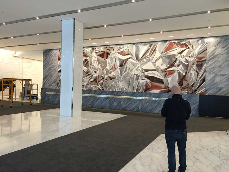Pae White Tapestry, Deitch Project, Art Installation design