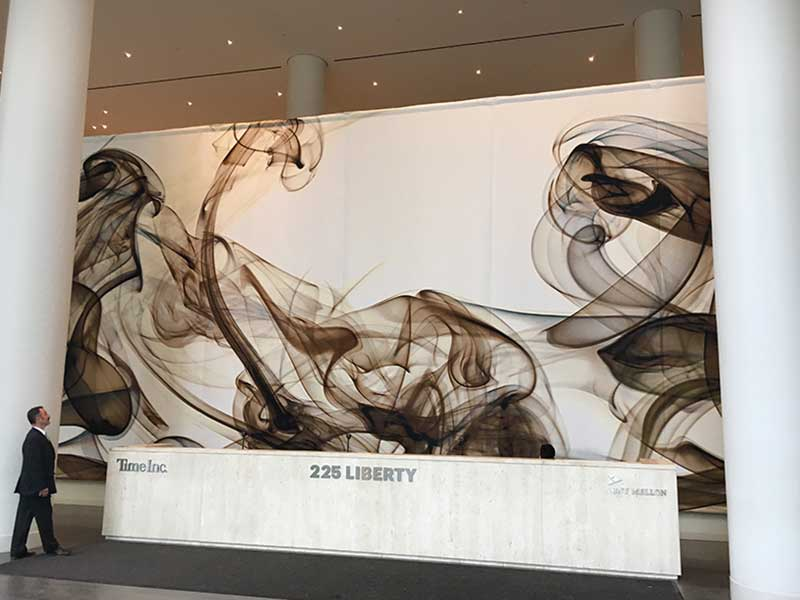 Pae White Tapestry, Brookfield Lobby Installation, Art Installation Design