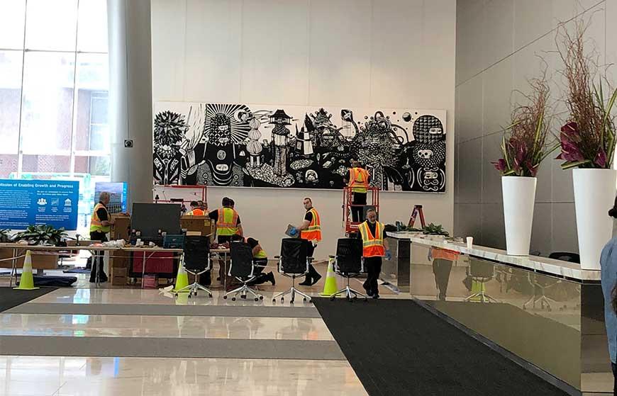 Eko Nugroho Citi Lobby Installation, Art Installation Design