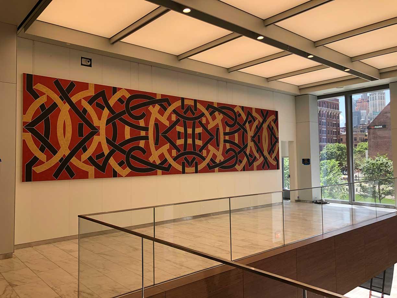Valerie Jaudon, Citibank 2019, Art Installation Design